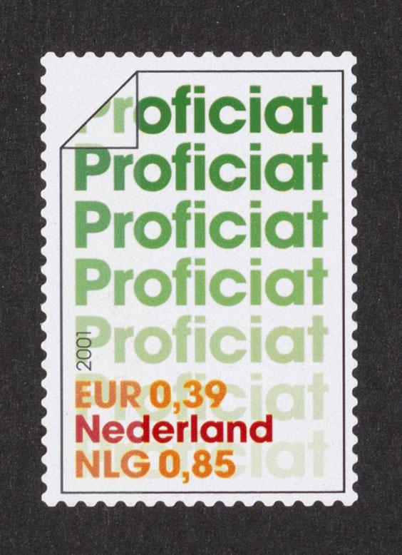 gefeliciteerd brief Postzegel Nederland 2001 10 x Gefeliciteerd, Proficiat (brief  gefeliciteerd brief