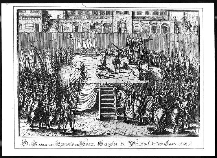 Afbeeldingsresultaat voor de graven van egmont en hoorn onthalst