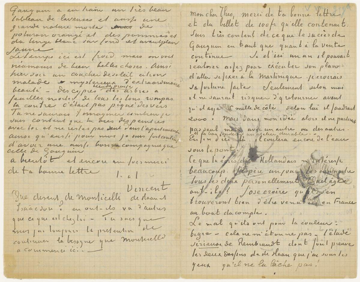 van gogh letters vincent gogh to theo gogh with 1 letter sketch 25414 | resolve?urn=urn:gvn:VGM01:722&role=page&count=1&role=image&size=variable